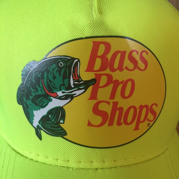 ❤️ Bass Pro Shops 🐟 Neon Yellow Mesh Trucker Hat